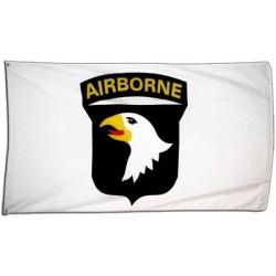 WW2 - Drapeau 101st Airborn blanc