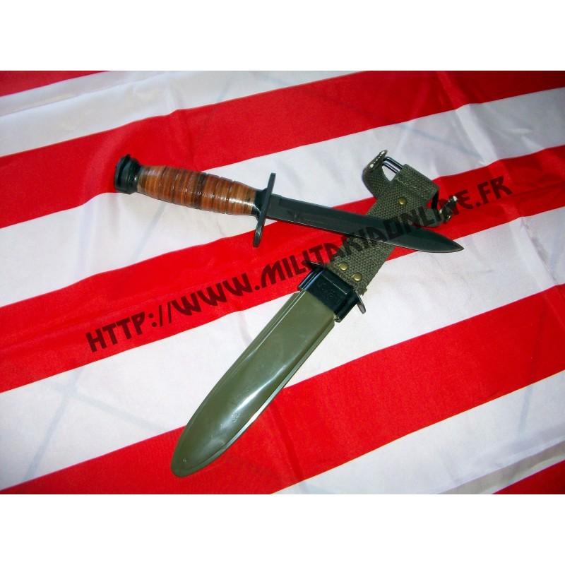 WW2 - Baionette M3 avec fourreau M8 US