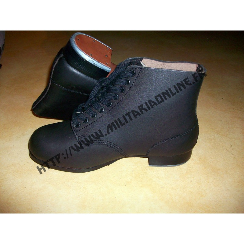 Chaussures - Brodequis de combat WH - WX Allemand WW2- NOIRE