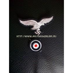 WW2 - Aigle de casquette ou de calot LW Panzer Goering + sa cocarde