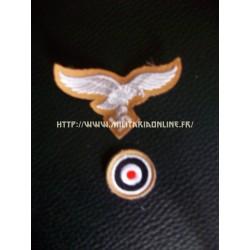 WW2 - Aigle de casquette ou de calot LW tropical DAK + sa cocarde