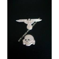 GER - Repro d'aigle de casquette et tête de mort Haute qualité