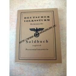 WW2 - Repro de Soldbuch Volksturm