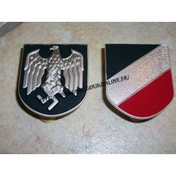 WW2 - Insignes métal pour casque Tropical DAK