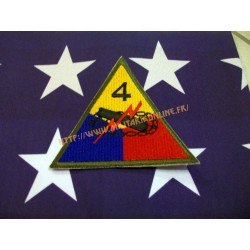 WW2 - Patch US - 4TH Armored repro