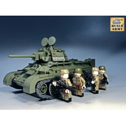 Soviet T34/76 + 4 Minifigs