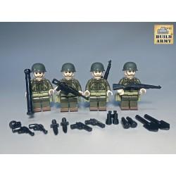 Soldats US avec armes x4